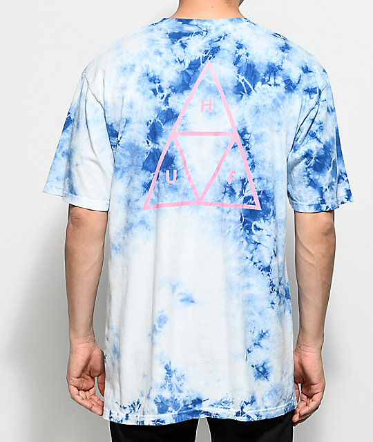 HUF Triple Triangle Washed Blue T-Shirt