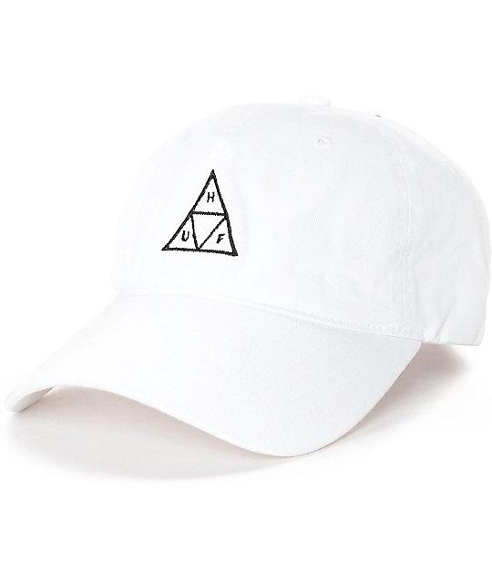 HUF Triple Triangle White Polo Strapback Hat