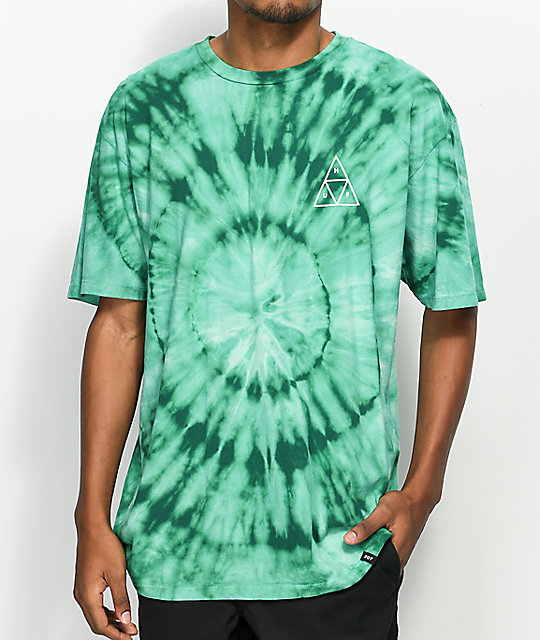Huf wash triple triangle teal t shirt zumiez for Boys teal t shirt