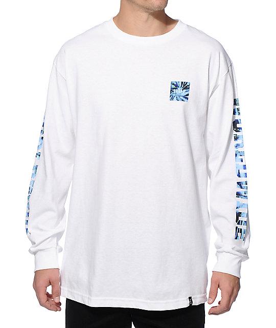 Huf Worldwide Tie Dye Long Sleeve T Shirt Zumiez