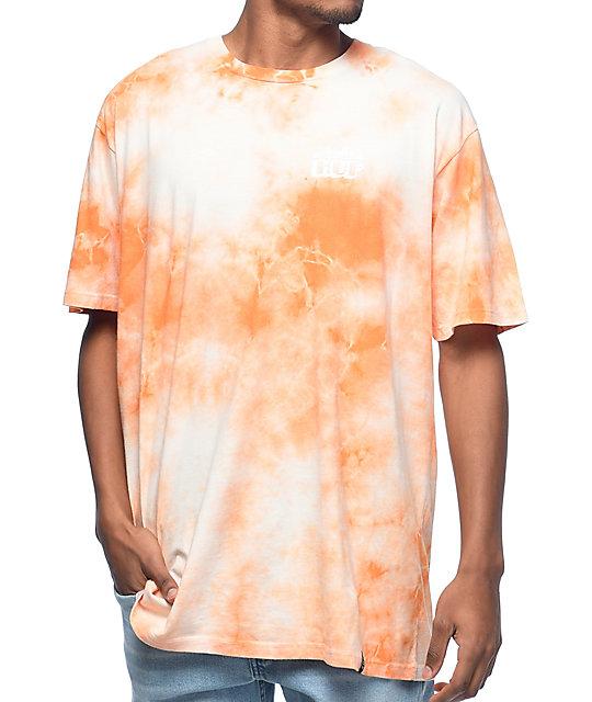 HUF X Original New York Seltzer Orange & White Tie Dye T-Shirt