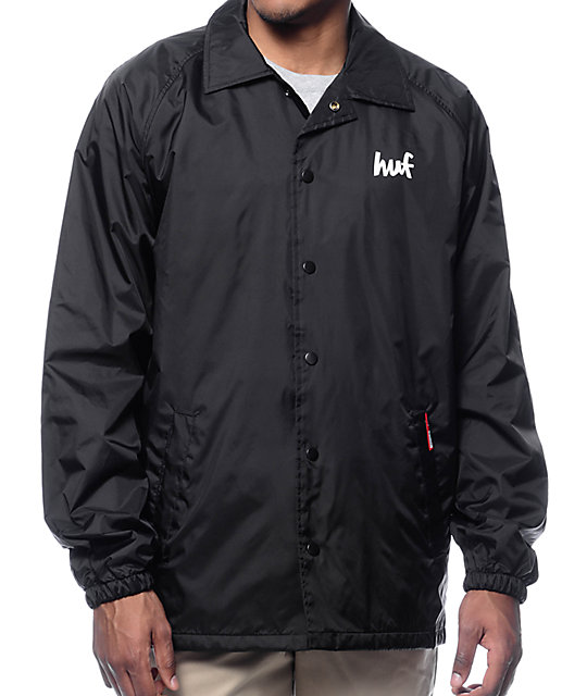 HUF x Chocolate Chunk Black Coach Jacket at Zumiez : PDP
