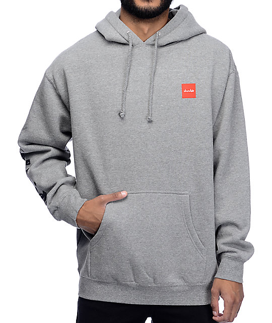 HUF x Chocolate Chunk Worldwide Grey Hoodie