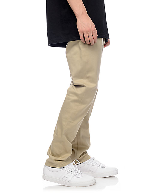 HUF x Chocolate Selvedge Khaki Regular Fit Chino Pants