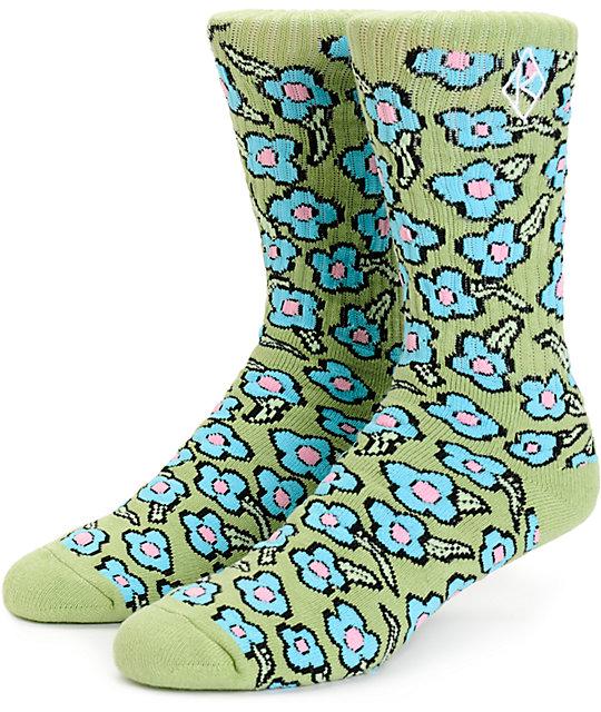 HUF x Krooked Seafoam Crew Socks