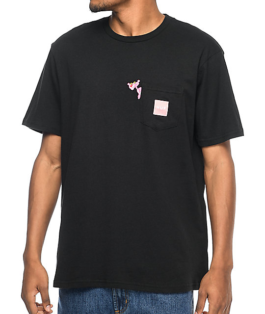 x Pink Panther Black Pocket T-Shirt
