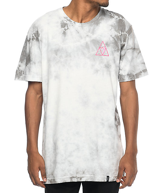 HUF x Pink Panther Tripple Triangle Grey Tie Dye T-Shirt