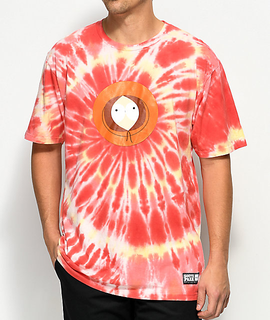 HUF x South Park Kenny Orange & Red Tie Dye T-Shirt