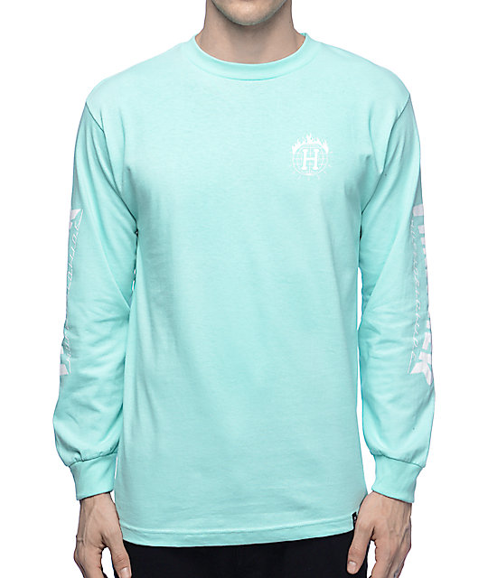 HUF x Thrasher TDS Mint Long Sleeve T-Shirt at Zumiez : PDP