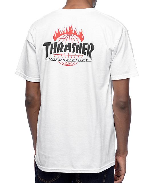 HUF x Thrasher TDS White T-Shirt