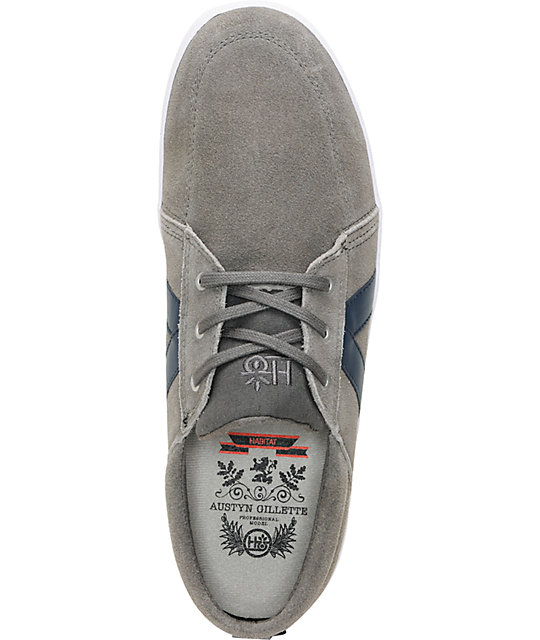 Habitat Austyn Cement Grey Suede Skate Shoes