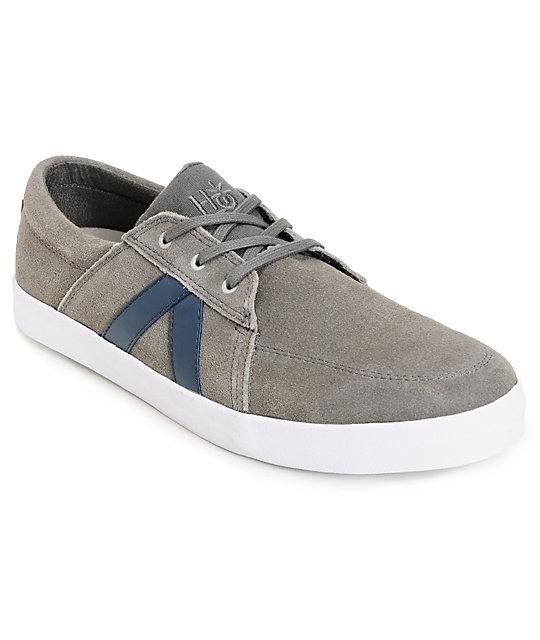 Habitat Austyn Cement Grey Suede Skate Shoes