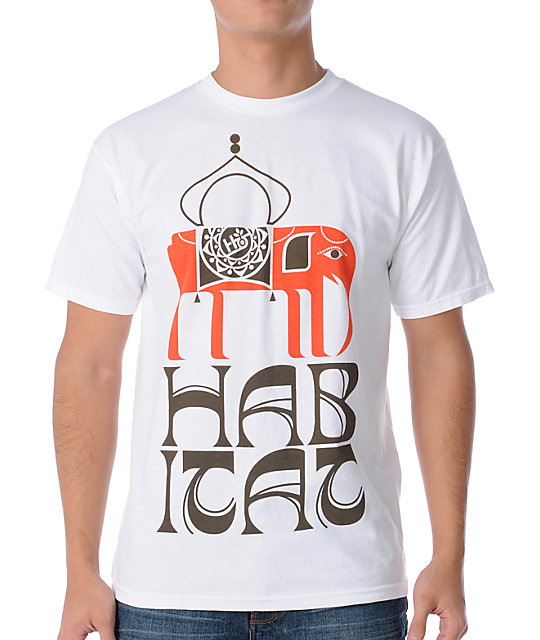 Habitat Elephant White T-Shirt