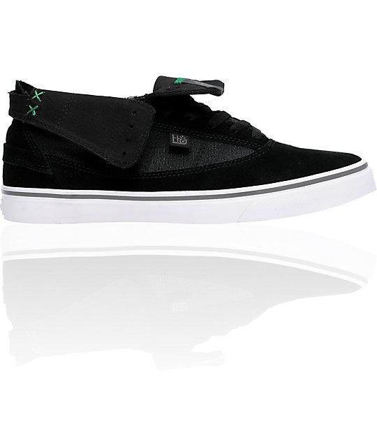 Habitat Guru High Black Suede & Canvas Shoes
