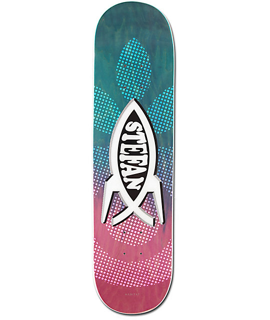 "Habitat Janoski Science Fish 8.12"" Skateboard Deck"