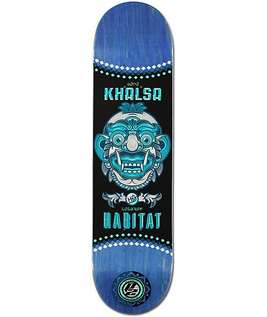 "Habitat Khalsa P2 Bali Mask 7.87""  Skateboard Deck"