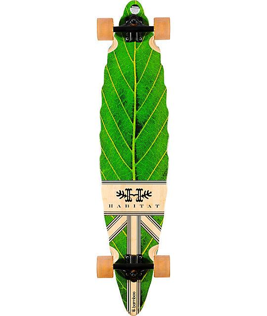 "Habitat Leaf Lines 40.5""  Bamboo Longboard Complete"