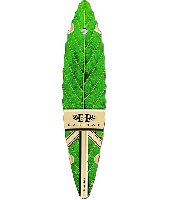 "Habitat Leaf Lines 40.5""  Bamboo Longboard Deck"