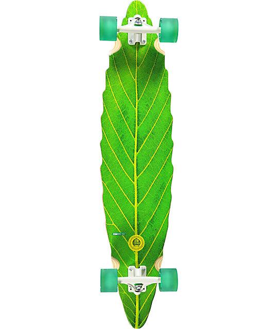 "Habitat Leaf Lines Green 41"" Longboard Complete"