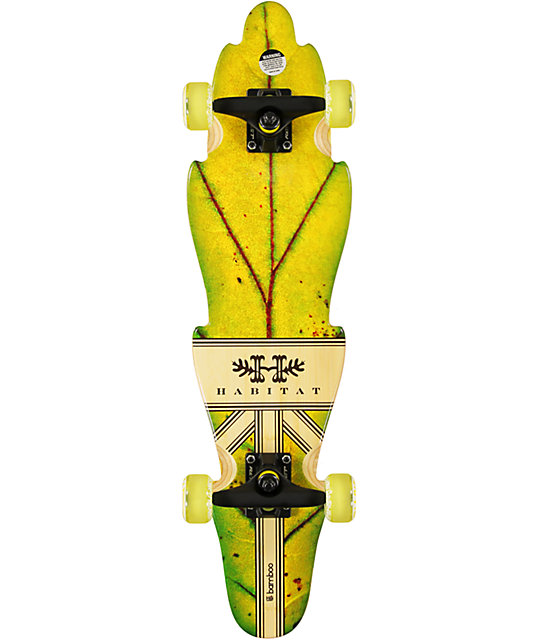 "Habitat Leaf Lines Oak 30""  Bamboo Cruiser Complete Skateboard"