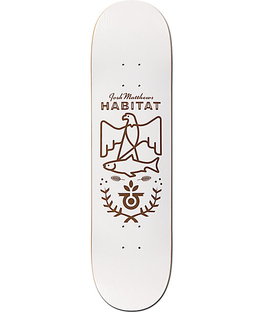 "Habitat Matthews Wood Grain 8.25"" Skateboard Deck"