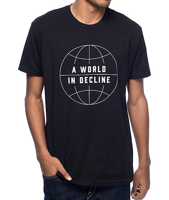 Habitat World In Decline Black T-Shirt