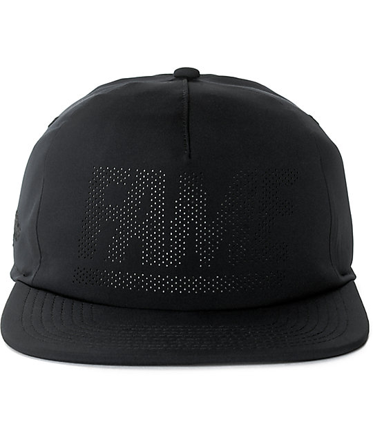 Hall Of Fame Fame Block Black Snapback Hat