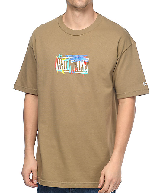 Hall Of Fame In The Paint Khaki T-Shirt