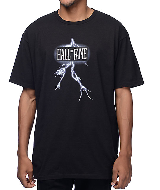 Hall Of Fame Logo Bolt Black T-Shirt