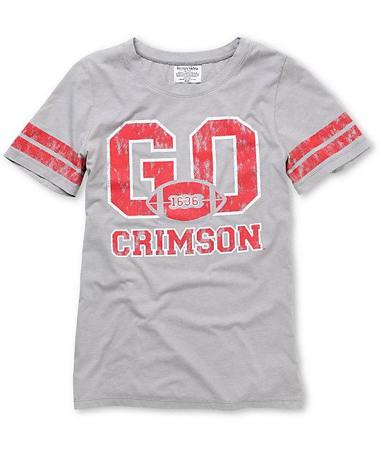 Harvard Crimson Crew College Football T-Shirt