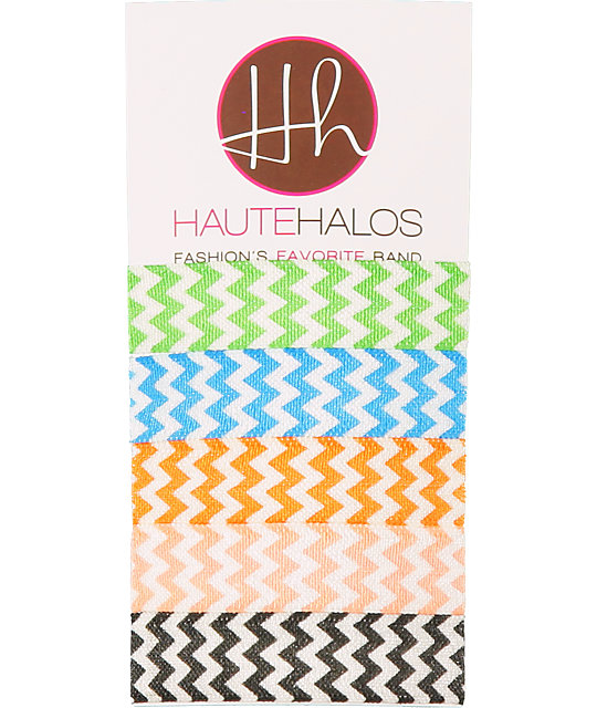 Haute Halos Chevron Stripe Hair Ties