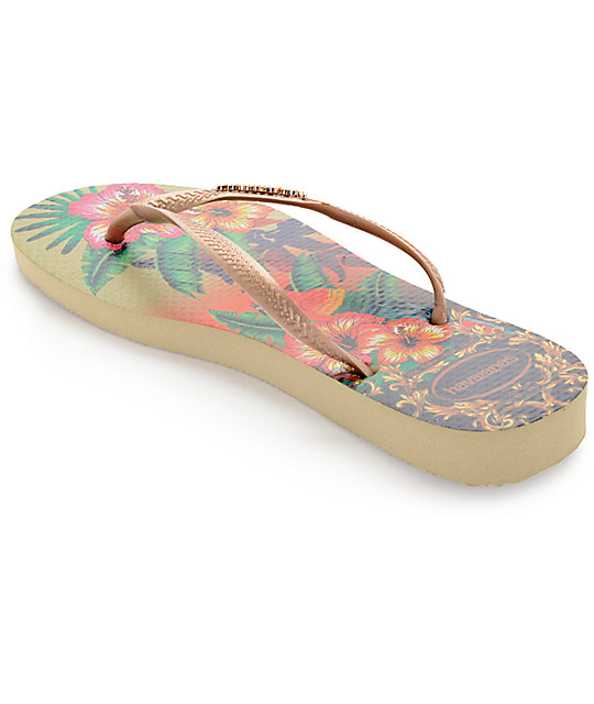 Havaianas Slim Tropical Flip Flop Sandals