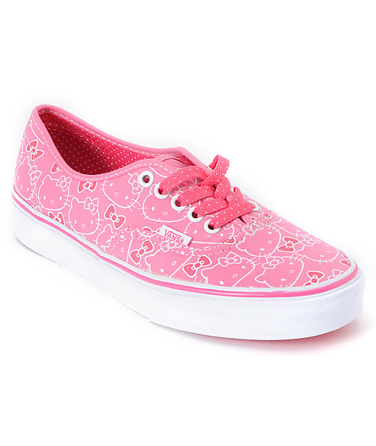 Hello Kitty Vans Hawaiian Pink Authentic Shoes (Womens)