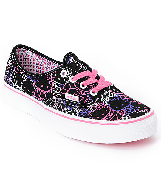 Hello Kitty Vans Passion Flower Pink Authentic Shoes (Womens)