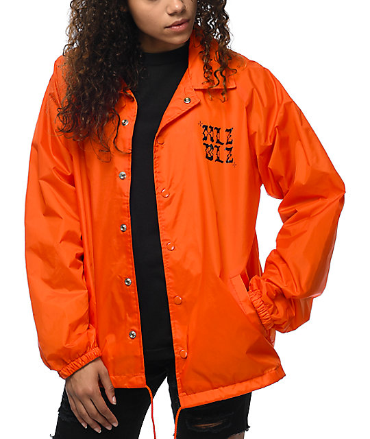 Hellz Bellz Bad Girls Orange Coaches Jacket
