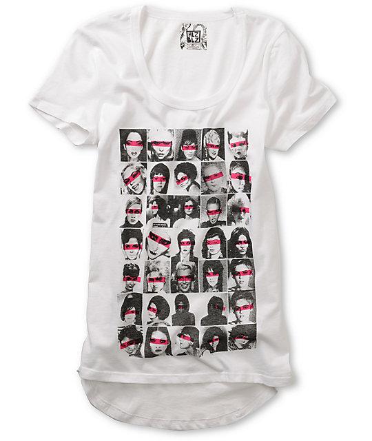 Hellz Bellz Iconz White Shirt Tail T-Shirt