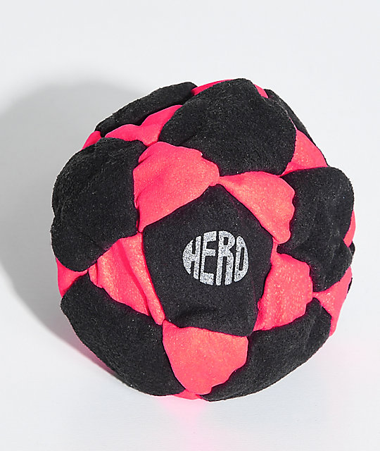 Hero Red Neon Suede Hacky Sack