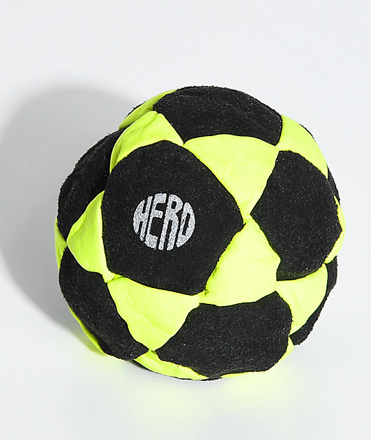 Hero Yellow Neon Suede Hacky Sack