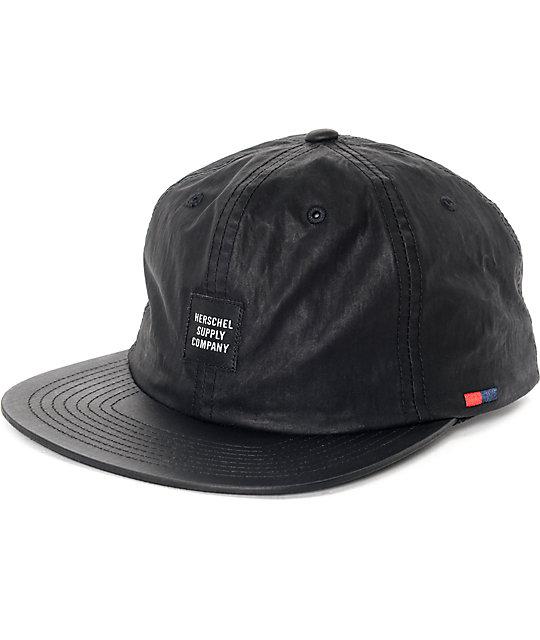 Herschel Albert Carbon Coated Black Snapback Hat