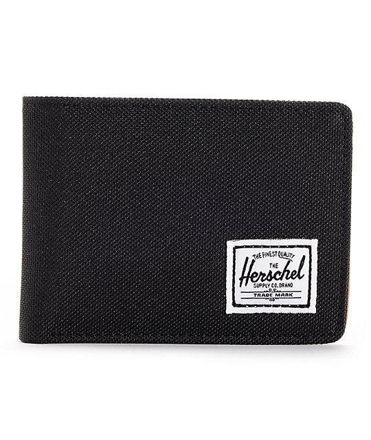 Herschel Hank Black Bifold Wallet