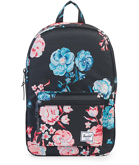 Herschel Settlement Pastel Petals Black 17L Backpack