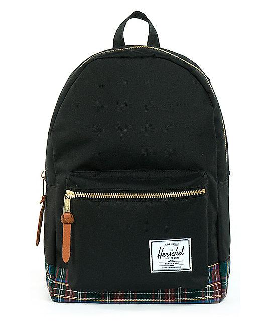 Herschel Supply Black Tartan Settlement 20L Backpack