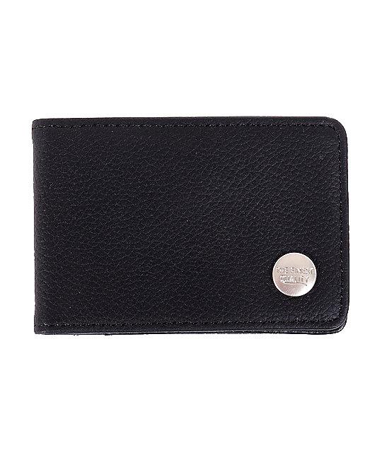 Herschel Supply Buck Black Leather Bifold Wallet