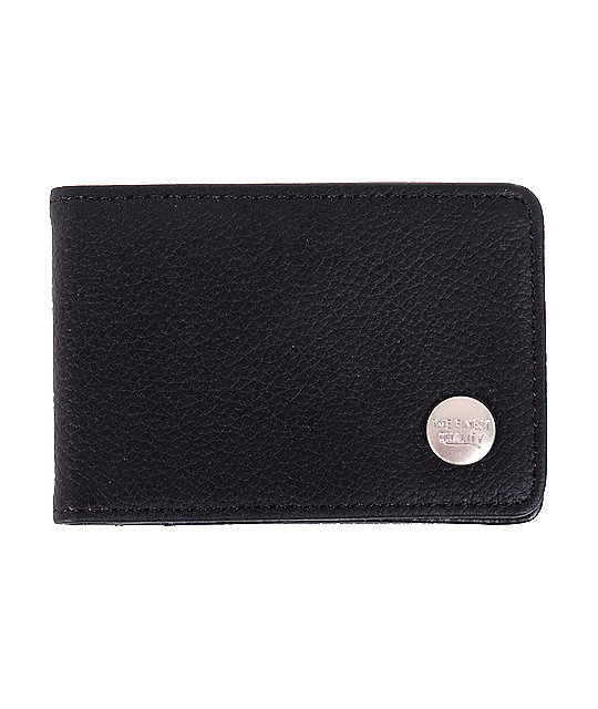 Herschel Supply Co. Buck Black Leather Bifold Wallet