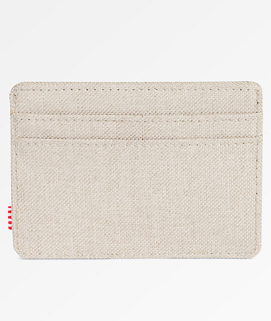 Herschel Supply Co. Charlie Light Khaki Crosshatch Cardholder Wallet