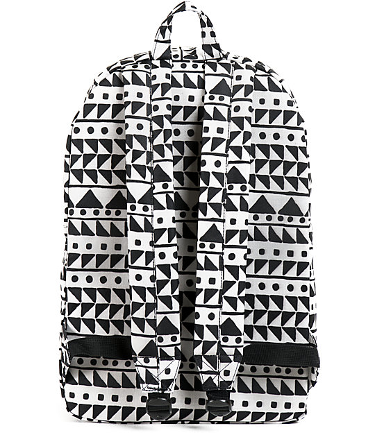 Herschel Supply Co. Classic Black & White Chevron Print 21L Backpack