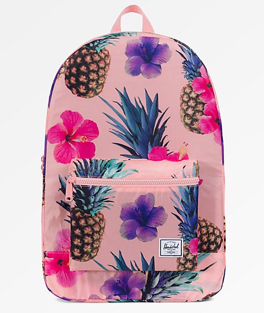 Herschel Supply Co. Daypack Peach Pineapple Packable Backpack by Herschel Supply