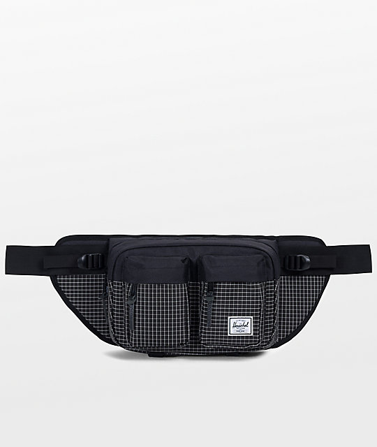 Herschel Supply Co. Eighteen Black Grid Fanny Pack
