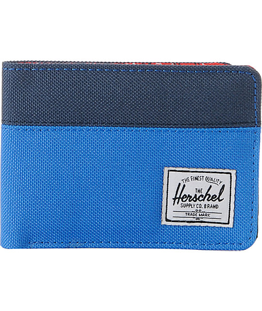 Herschel Supply Co. Hank Blue Canvas Bifold Wallet