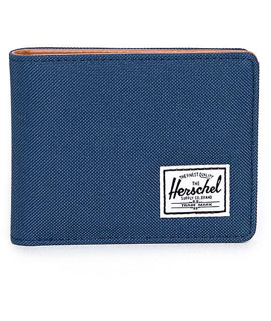 Herschel Supply Co. Hank Navy & Tan Bi Fold Wallet